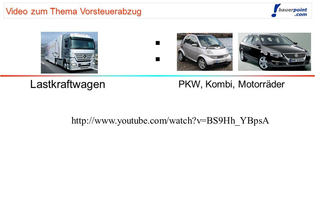 Verbuchung von Kraftfahrzeug-Betriebskosten Lastkraftwagen PKW, Kombi, Motorräder Reparatur Anmeldung Treibstoff etc. Versicherung Vers. Steuer KFZ St