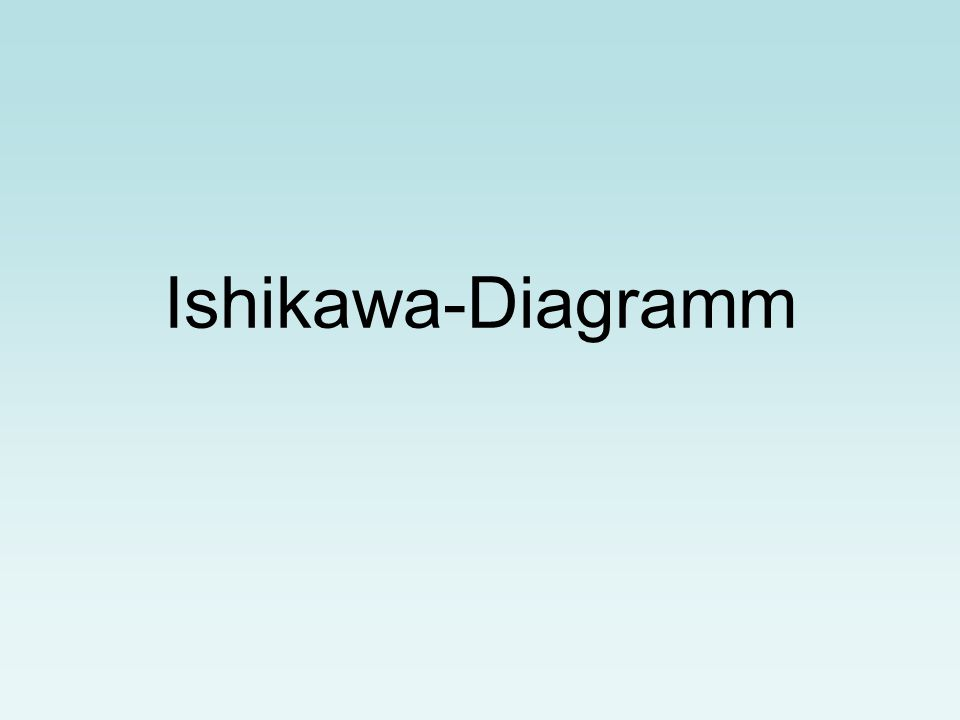 Ishikawa-Diagramm