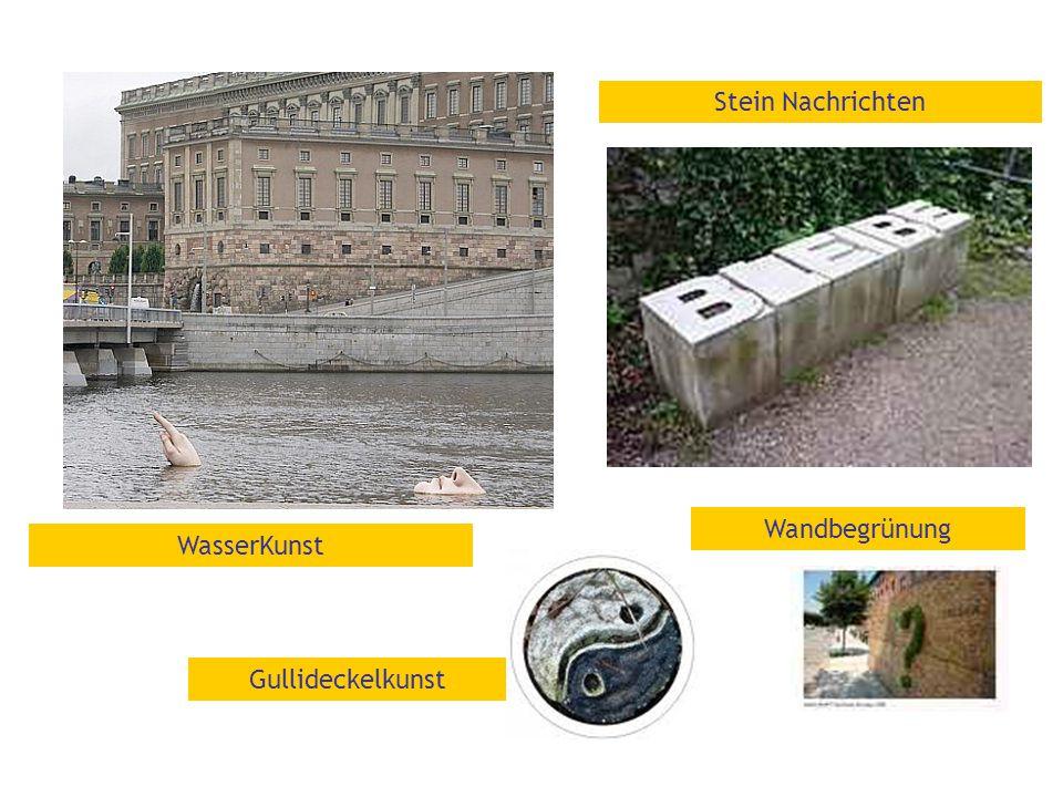Gullideckelkunst Wandbegrünung Stein Nachrichten WasserKunst