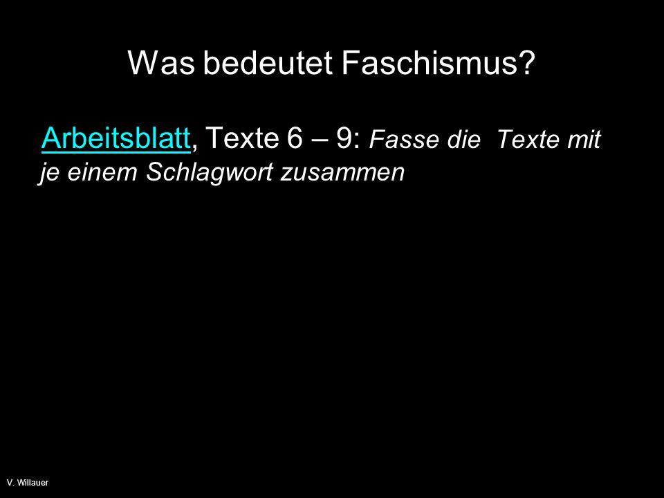 V.Willauer Was bedeutet Faschismus.
