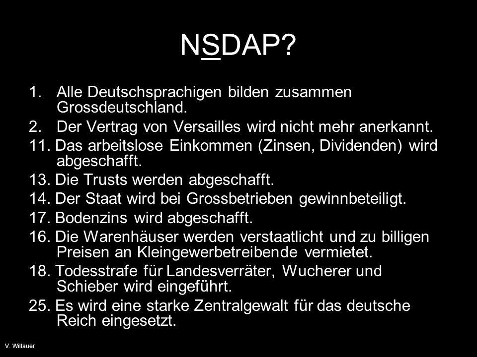 V.Willauer NSDAP. Was will der Sozialismus.