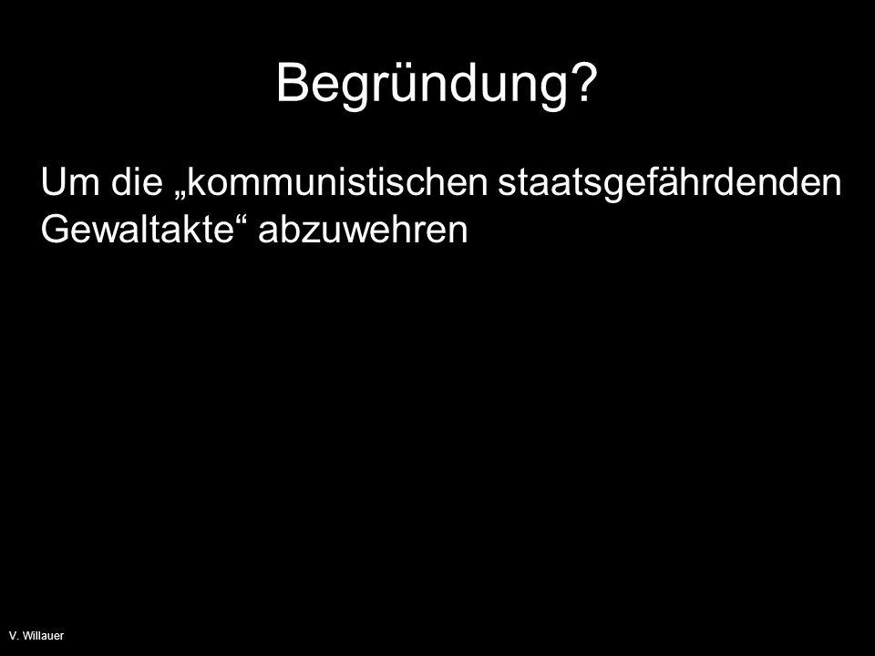 V. Willauer Die Kommunistenhetze beginnt S. 11 ff