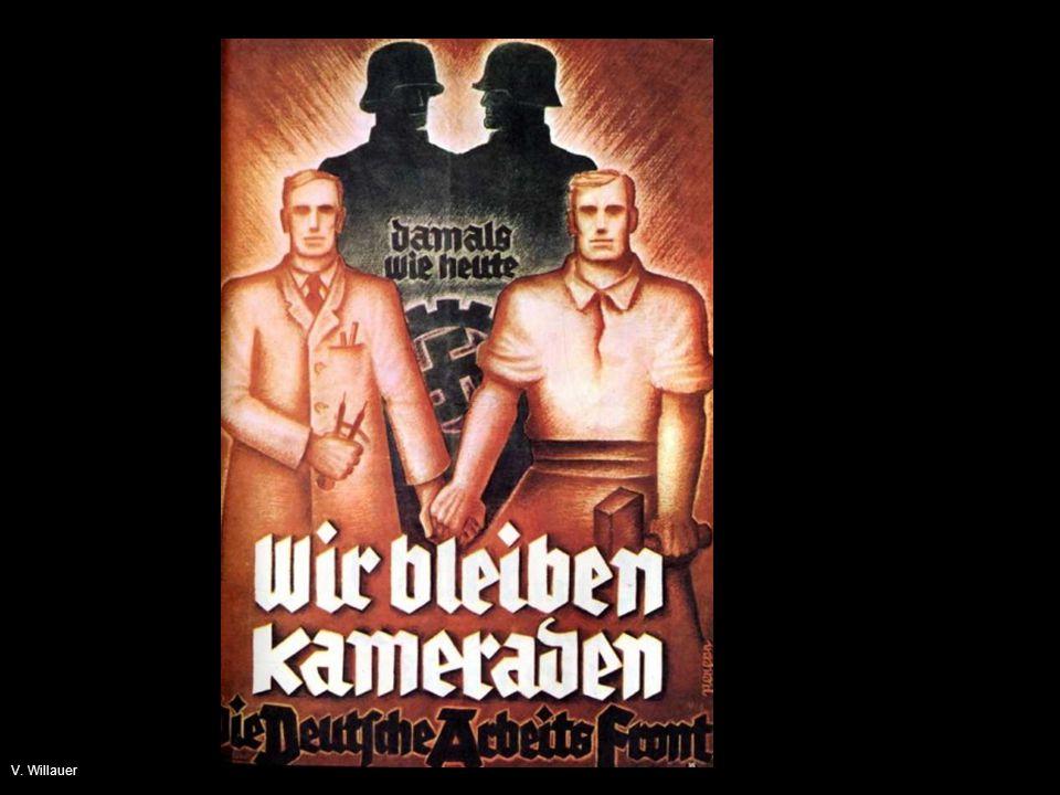 Gleichschaltung «Fabrikanten und Arbeiter», A 2b: Der Industrielle musste nicht mehr mit dem Widerstand der in eigenen Organisationen zusammengeschlossenen Arbeiterschaft rechnen.
