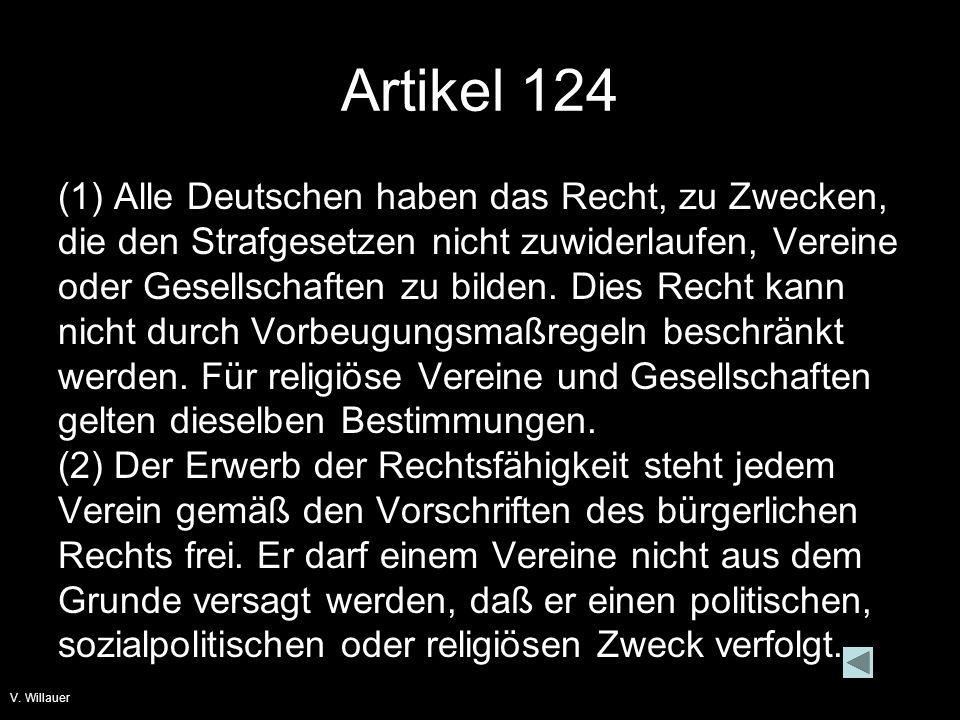 V.Willauer Artikel 153 (1) Das Eigentum wird von der Verfassung gewährleistet.