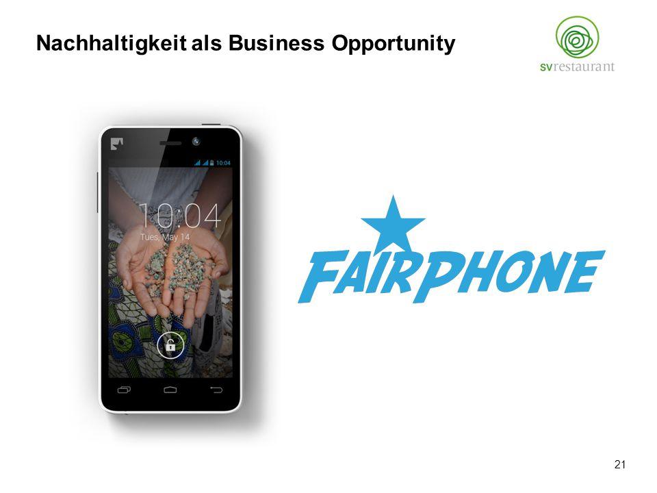 Nachhaltigkeit als Business Opportunity 21