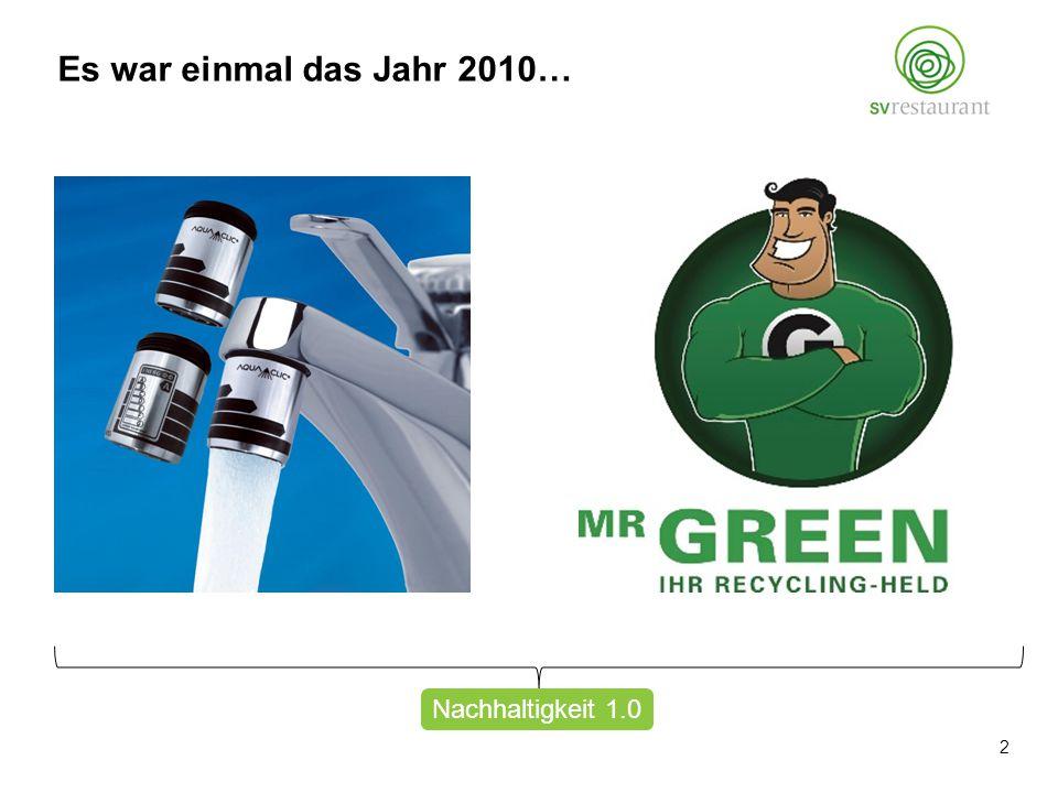 Nachhaltigkeit 1.0 Es war einmal das Jahr 2010… 2