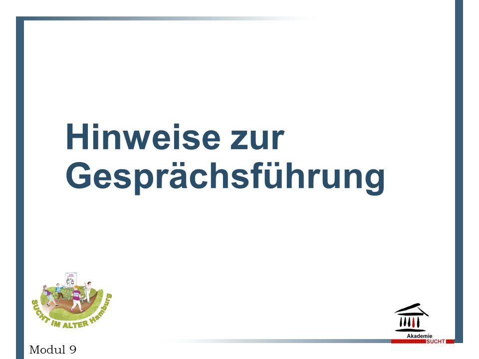 Hinweise zur Gesprächsführung GESCHÄFTSPLANPRÄSENTATION Modul 9
