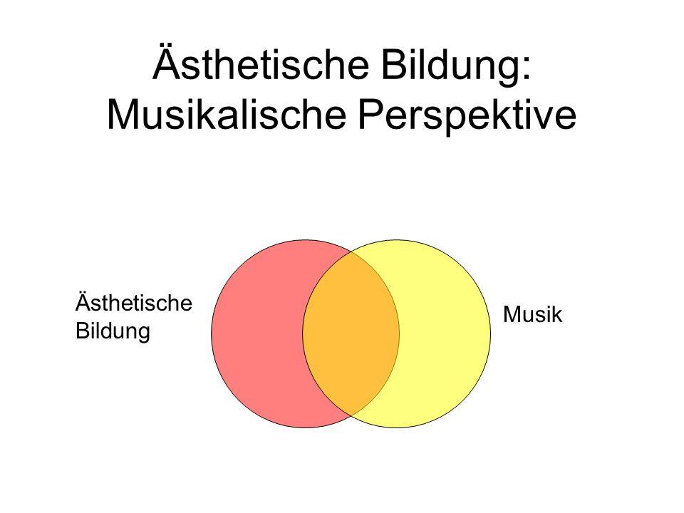 Ästhetische Bildung: Musikalische Perspektive Ästhetische Bildung Musik