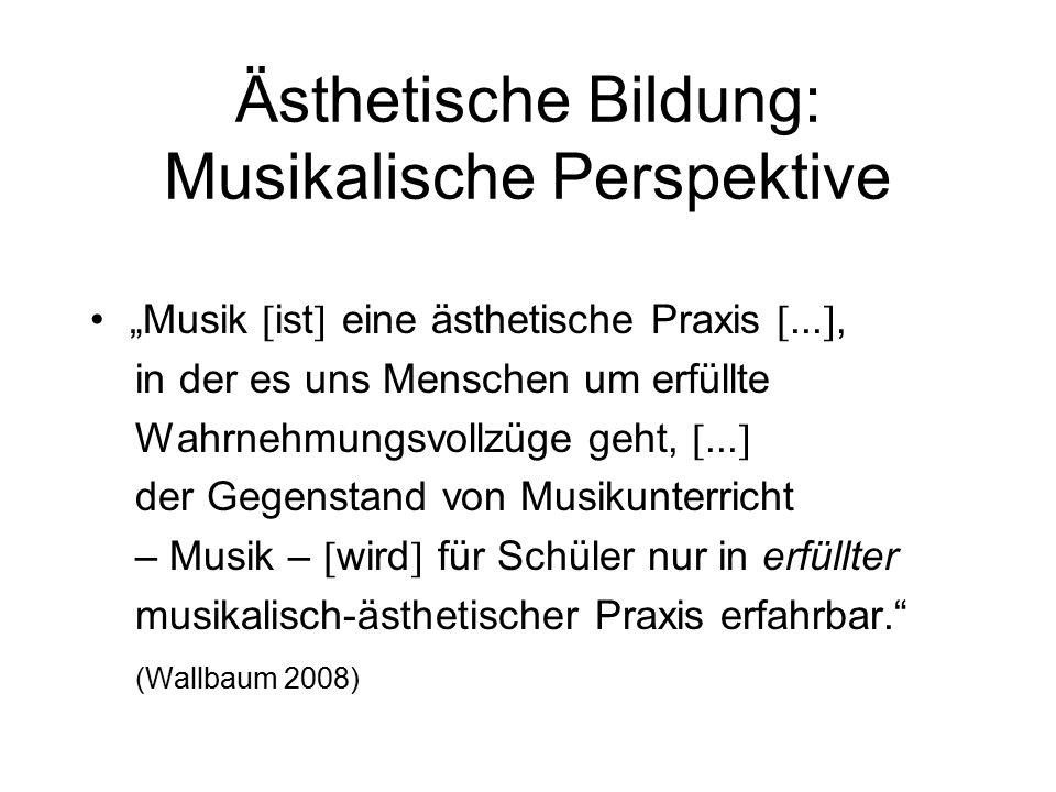 """""""Musik  ist  eine ästhetische Praxis ..."""