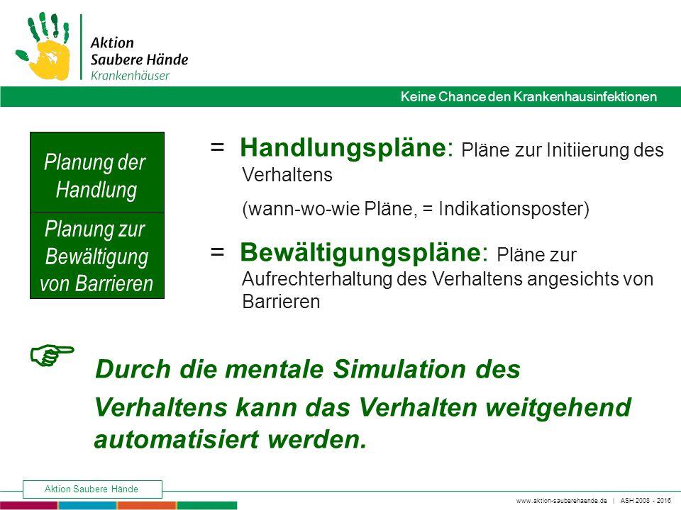 www.aktion-sauberehaende.de   ASH 2008 - 2016 Keine Chance den Krankenhausinfektionen Aktion Saubere Hände Keine Chance den Krankenhausinfektionen = H