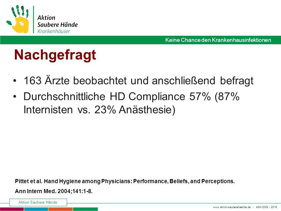 www.aktion-sauberehaende.de   ASH 2008 - 2016 Keine Chance den Krankenhausinfektionen Aktion Saubere Hände Keine Chance den Krankenhausinfektionen Nac