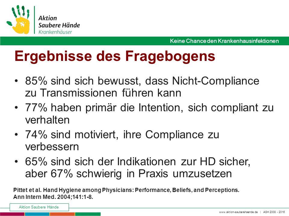 www.aktion-sauberehaende.de   ASH 2008 - 2016 Keine Chance den Krankenhausinfektionen Aktion Saubere Hände Keine Chance den Krankenhausinfektionen Erg