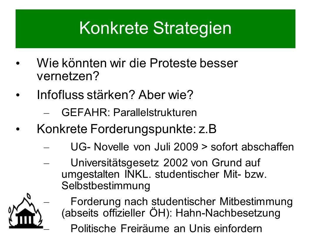 AUDIMAX-Zentrismus Spärliche Vernetzung m.Unis/ FHs?.