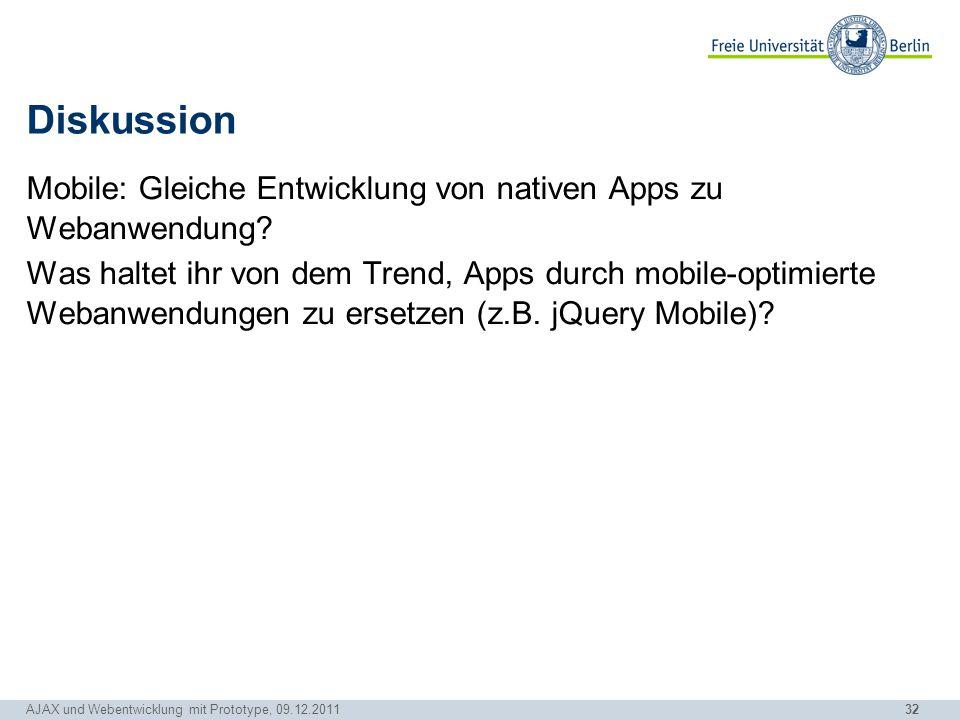 32 Diskussion Mobile: Gleiche Entwicklung von nativen Apps zu Webanwendung? Was haltet ihr von dem Trend, Apps durch mobile-optimierte Webanwendungen