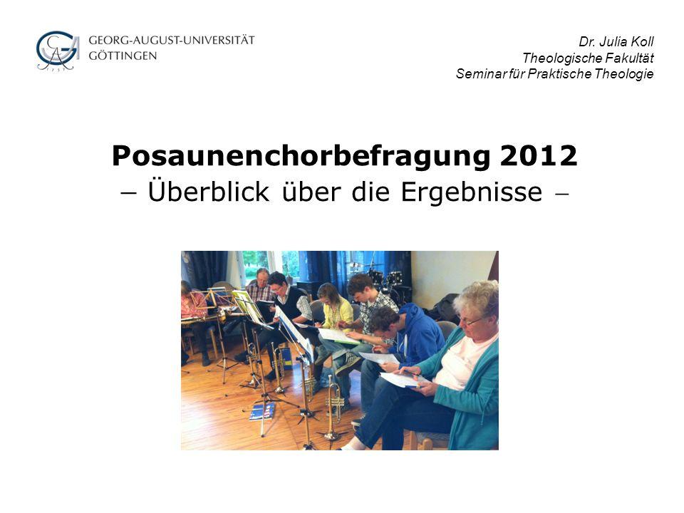 Posaunenchorbefragung 2012  Überblick über die Ergebnisse  Dr.