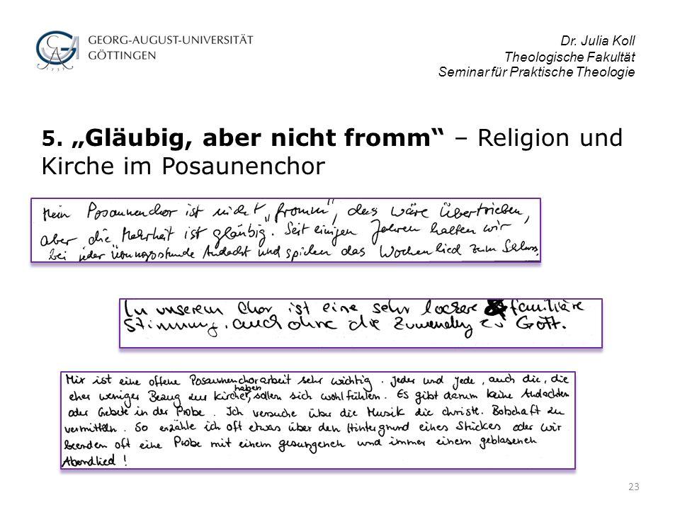 Dr.Julia Koll Theologische Fakultät Seminar für Praktische Theologie 5.