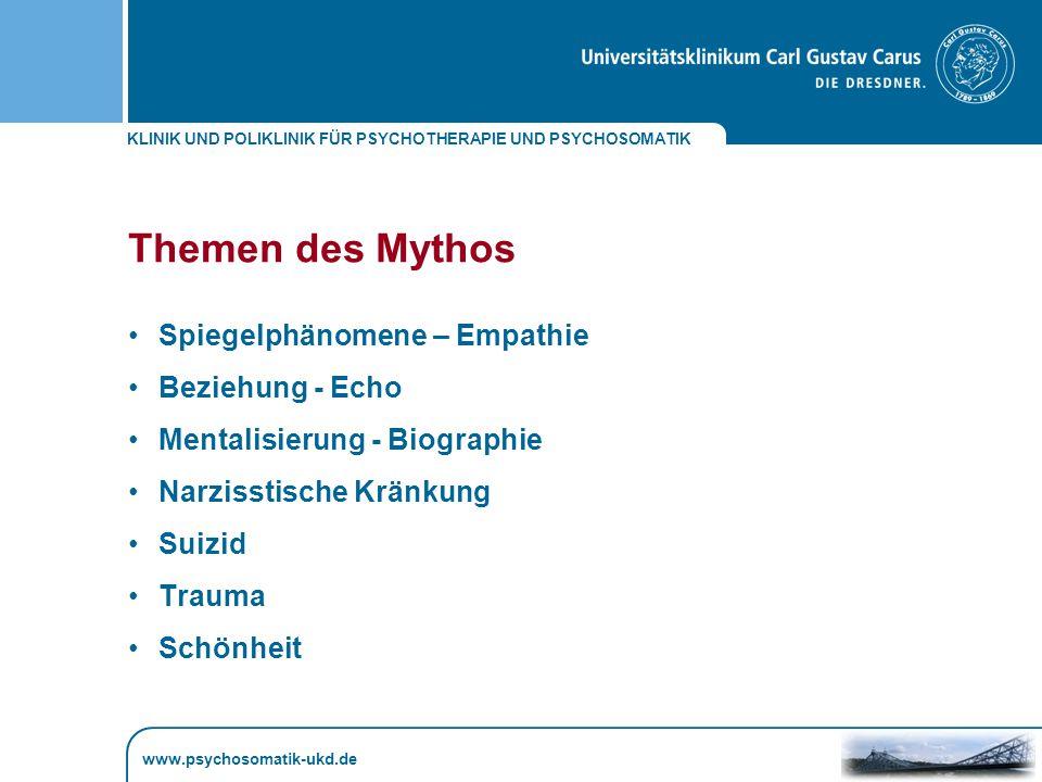 KLINIK UND POLIKLINIK FÜR PSYCHOTHERAPIE UND PSYCHOSOMATIK www.psychosomatik-ukd.de Scham und Selbstgefühl