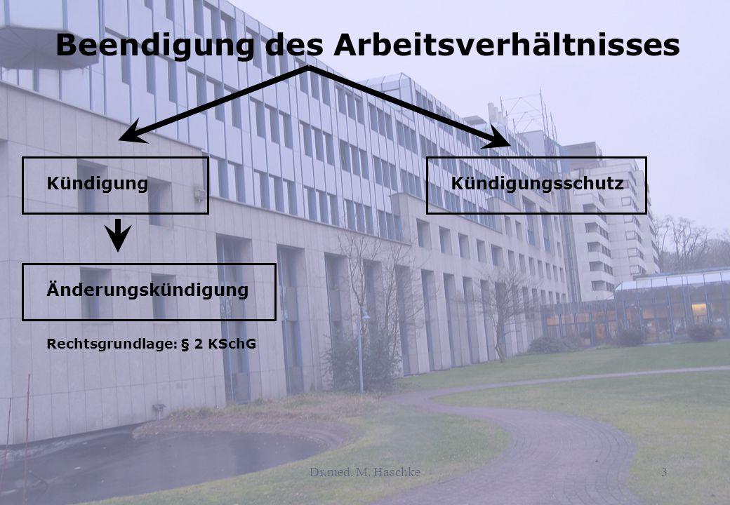 Dr.med.M. Haschke4 Entstehungsgeschichte des Kündigungsschutzrechts  Vertragsfreiheit im 19.