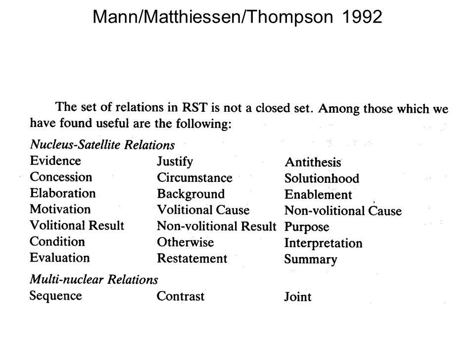 Mann/Matthiessen/Thompson 1992