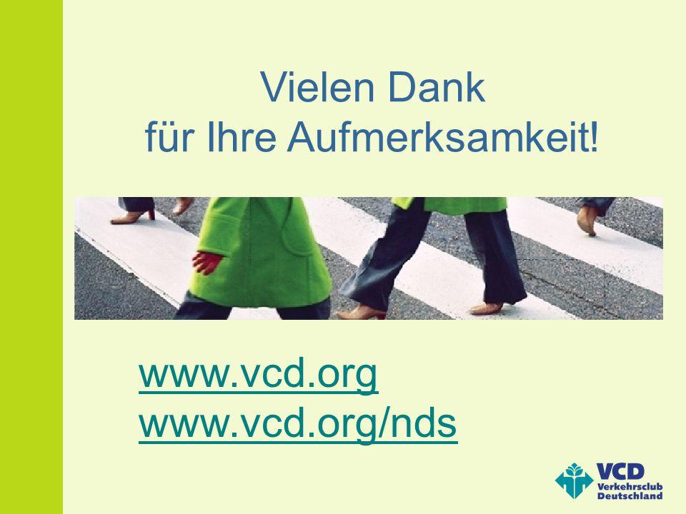 Vielen Dank für Ihre Aufmerksamkeit! www.vcd.org www.vcd.org/nds