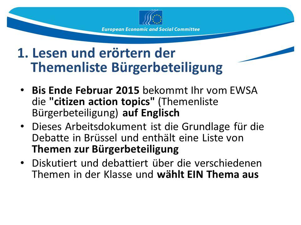 Bis Ende Februar 2015 bekommt Ihr vom EWSA die
