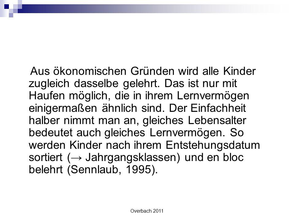 Overbach 2011 Literatur  Bauersfeld, Heinrich (2007).