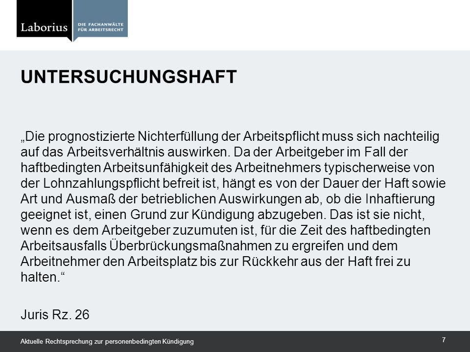 BAG v.25.09.2014 – 2 AZR 567/13 Zurückweisung der Kündigung 4.