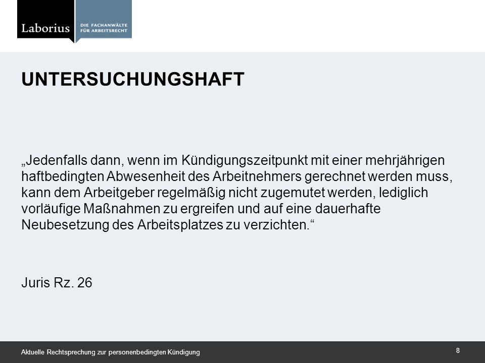 Frage: Welcher Zeitraum ist dem AG als Überbrückung zumutbar.