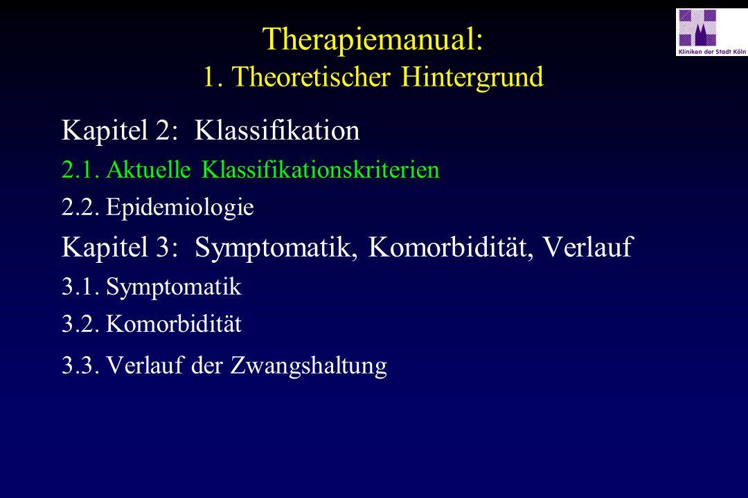 Phasen des therapeutischen Vorgehens (nach Bartling et al., 1980) Klärung der Vorbedingungen Diagnostische Phase kognitive Vorbereitung Intensivphase der Exposition Selbstkontrollphase