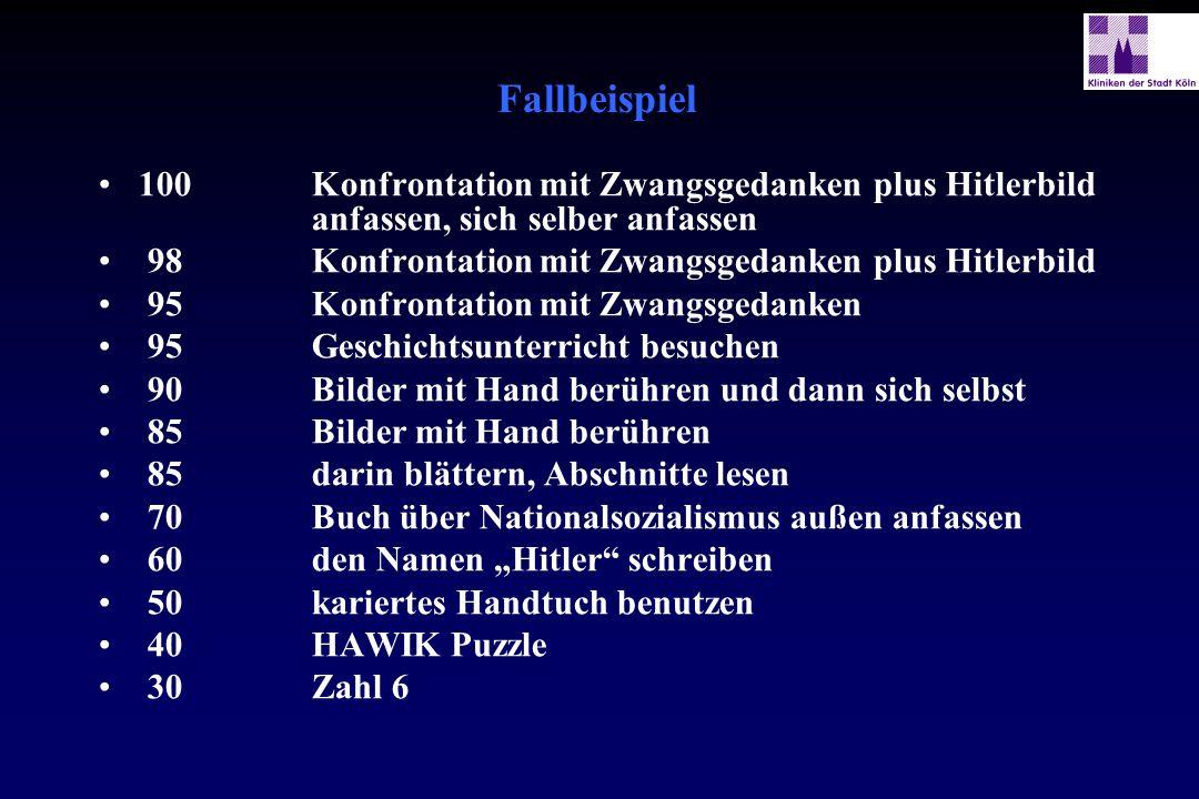 Fallbeispiel 100 Konfrontation mit Zwangsgedanken plus Hitlerbild anfassen, sich selber anfassen 98 Konfrontation mit Zwangsgedanken plus Hitlerbild 9