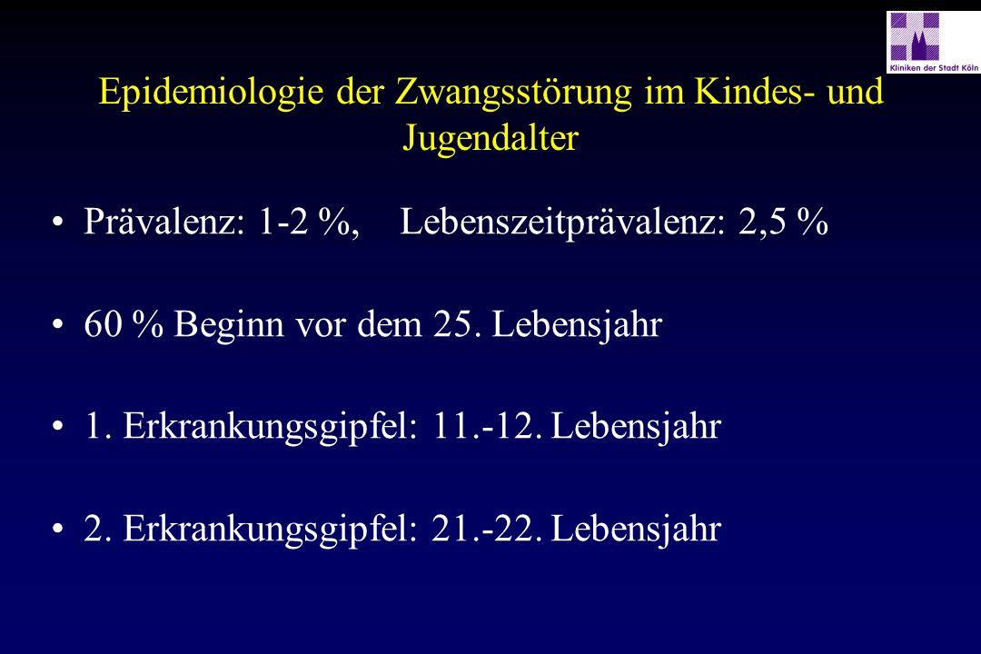 Kontrollierte Studien mit Clomipramin im Kindes- und Jugendalter AutorNAlter (Jahre) Dosis Mittel DauerErgebnisse Flament et al.