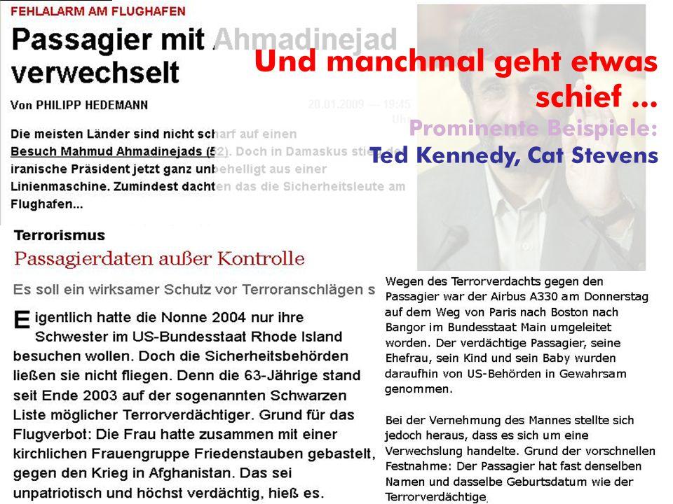 © ARGE DATEN 2014 ARGE DATEN Und manchmal geht etwas schief... Prominente Beispiele: Ted Kennedy, Cat Stevens