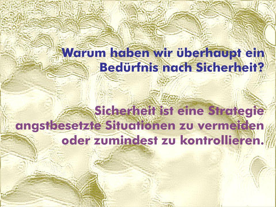 © ARGE DATEN 2014 ARGE DATEN Dr. Hans G. Zeger © Hans G. Zeger 2009 Warum haben wir überhaupt ein Bedürfnis nach Sicherheit? Sicherheit ist eine Strat