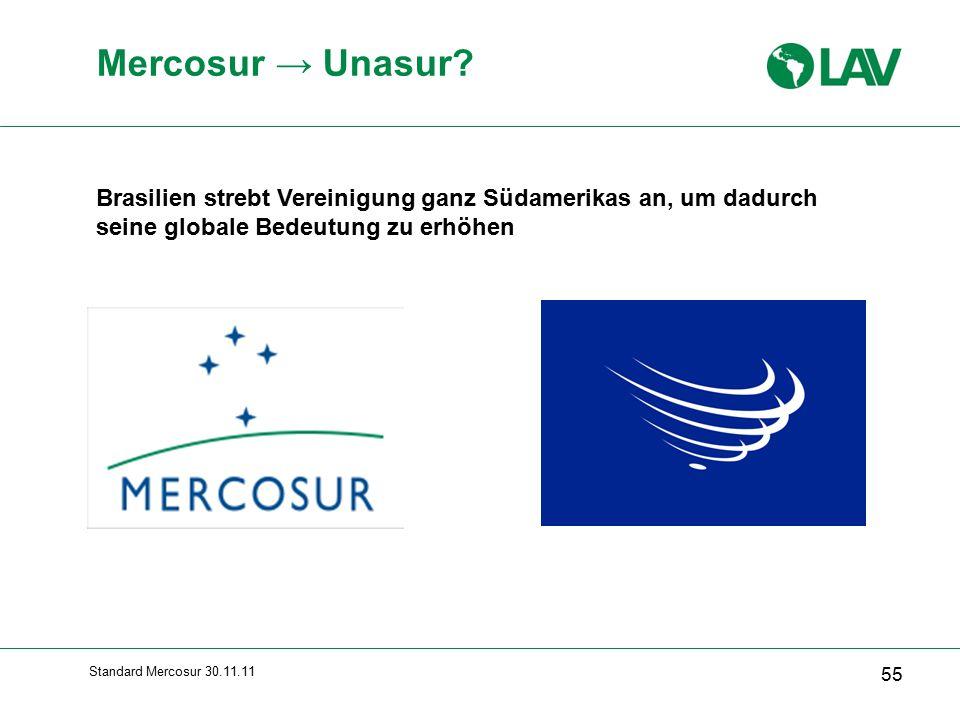 Standard Mercosur 30.11.11 Mercosur → Unasur.