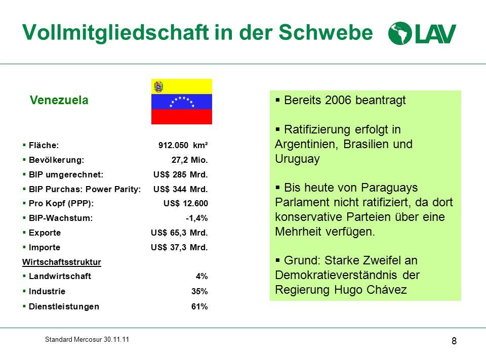 Standard Mercosur 30.11.11 Venezuela: Nichterdölsektor Bergbau : u.a.