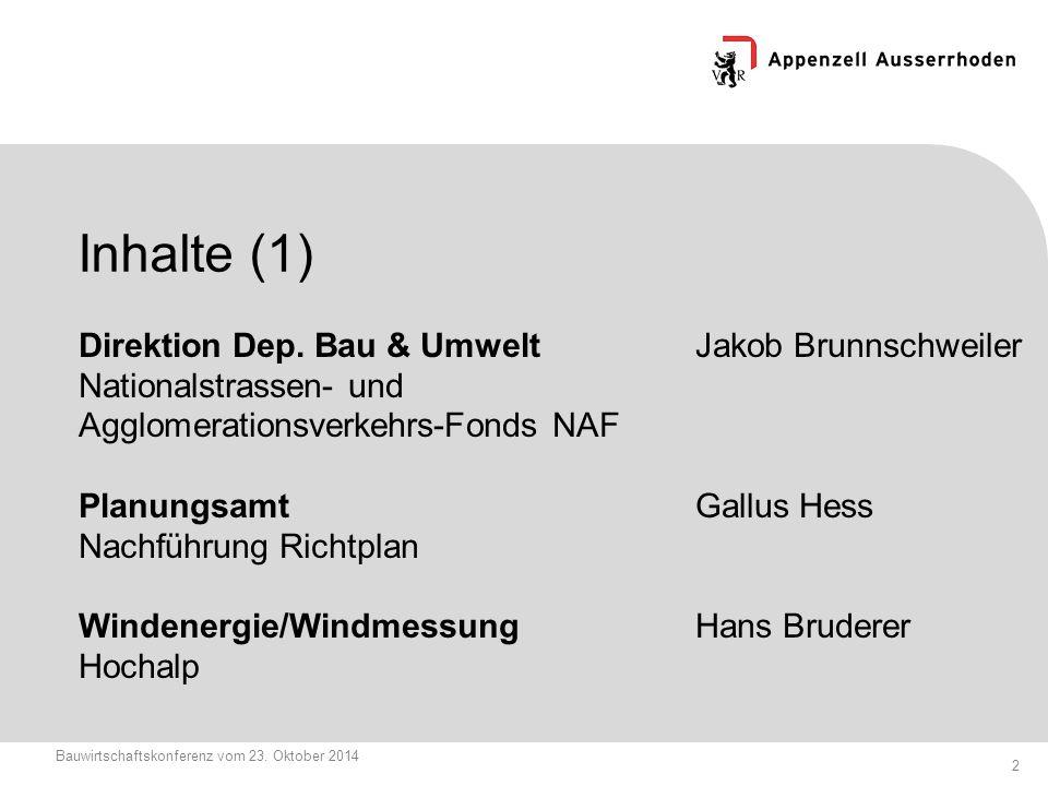 13 Bauwirtschaftskonferenz vom 23.