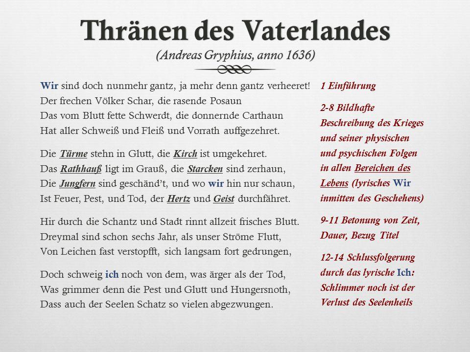Es ist alles eitel Andreas Gryphius (1616-1664) Du siehst, wohin du siehst, nur eitelkeit auf erden.