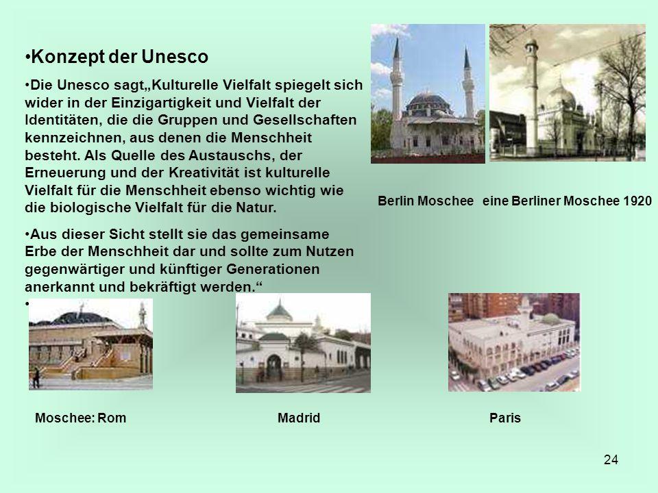"""24 Konzept der Unesco Die Unesco sagt""""Kulturelle Vielfalt spiegelt sich wider in der Einzigartigkeit und Vielfalt der Identitäten, die die Gruppen und"""