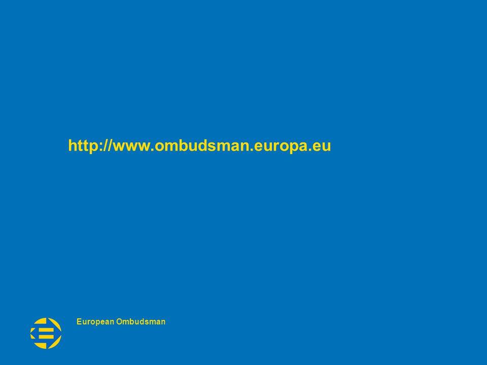 European Ombudsman http://www.ombudsman.europa.eu