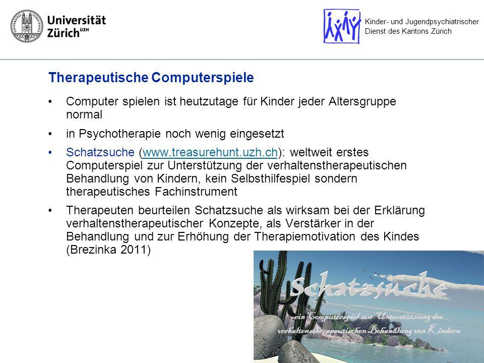 Kinder- und Jugendpsychiatrischer Dienst des Kantons Zürich Computerspiel für Zwangserkrankungen.
