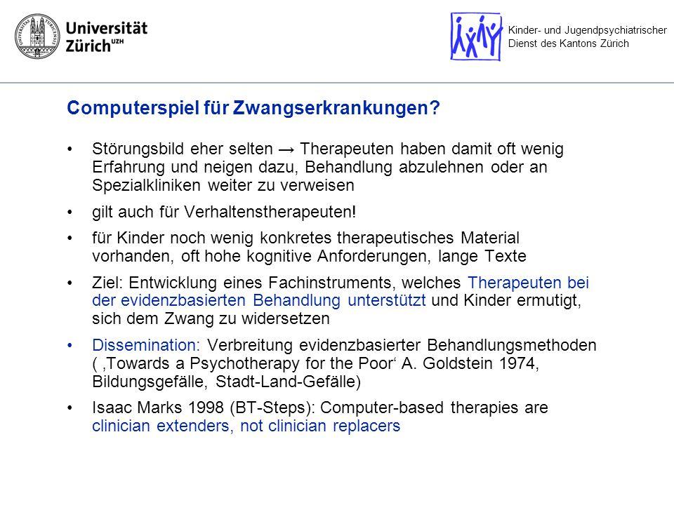 Kinder- und Jugendpsychiatrischer Dienst des Kantons Zürich Greife lieber zum Computerspiel… … dann geht alles wie von selbst ?