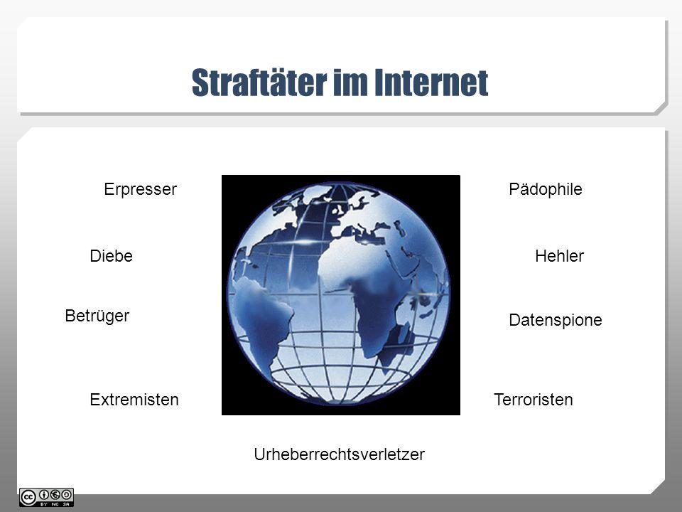 Straftäter im Internet Straftäter im Internet Erpresser Diebe Betrüger Extremisten Pädophile Hehler Datenspione Terroristen Urheberrechtsverletzer