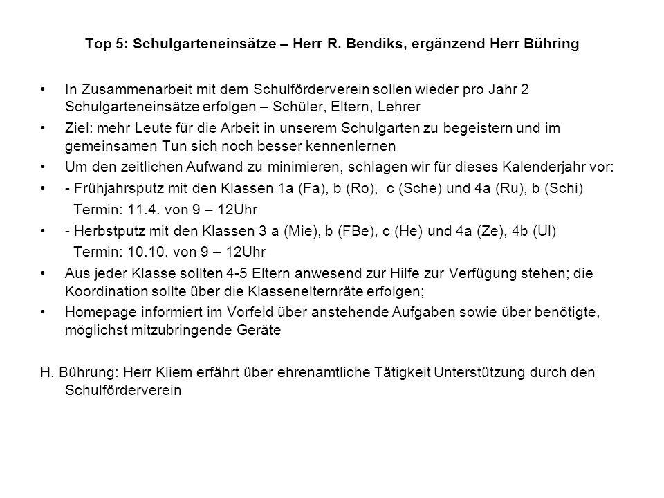 Top 5: Schulgarteneinsätze – Herr R.