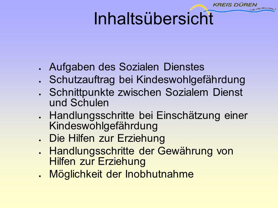 Schnittpunkte zwischen Sozialem Dienst und Schulen  Schulgesetz §42 Abs.