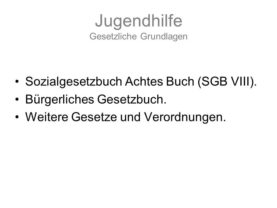 Jugendhilfe Gesetzliche Grundlagen Sozialgesetzbuch Achtes Buch (SGB VIII).