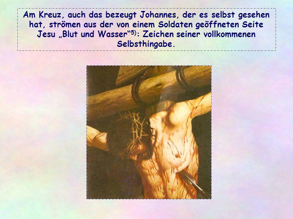 """Alles, was Jesus zu schenken hat, ist lebendig und fördert das Leben. Er selbst ist das """"lebendige Brot"""" 2), das Wort, das Leben schenkt 3), ja das Le"""
