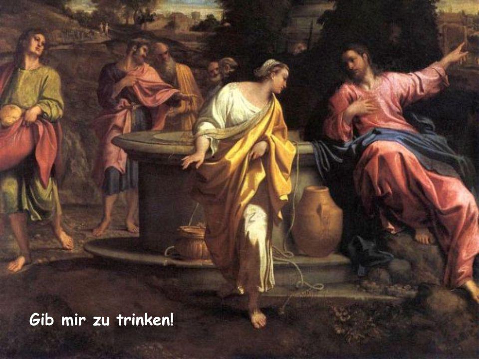 """""""Jesus sagte zu ihr: Gib mir zu trinken!"""" (Johannes 4,7) Wort des Lebens Januar 2015"""