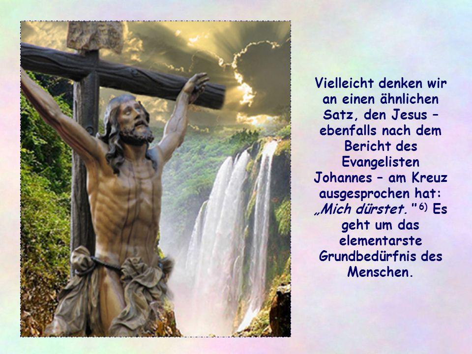 Denn auch in denen, die zur Gegenseite gehören, die aus einem anderen kulturellen, sozialen oder religiösen Umfeld stammen, verbirgt sich Jesus, der s