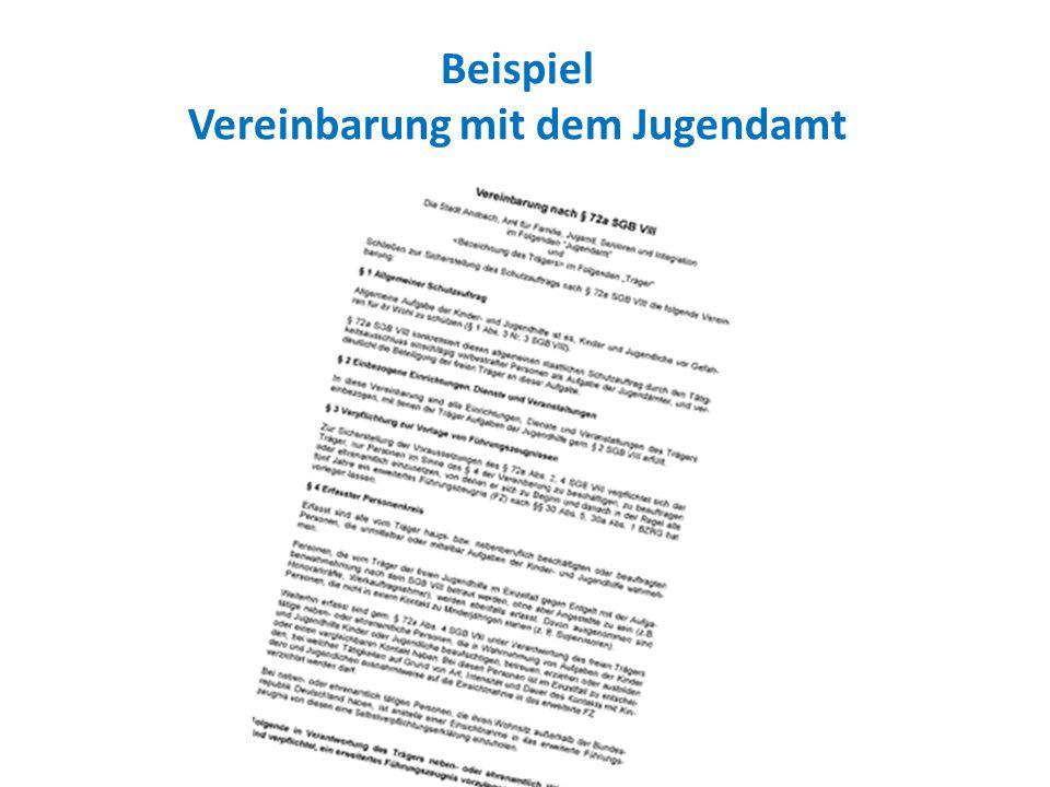 Beispiel Vereinbarung mit dem Jugendamt