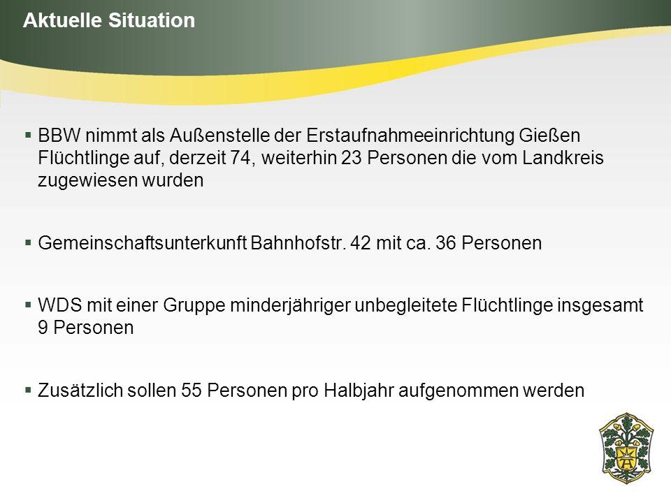 Themenfelder für die Stadt Bad Arolsen Unterkünfte Allgemeine Koordination Sachmittel Betreuungsangebot